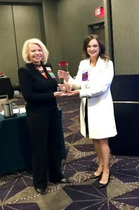 Picture of Carrie Holstead Receiving Diamond Leadership Award